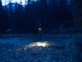 River crossing by headlamp