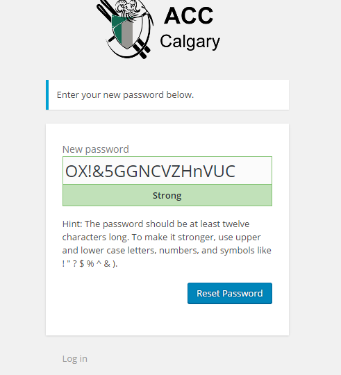 How to log in to the ACC Calgary website
