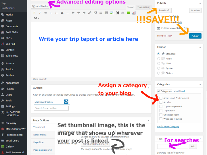 How to Create a Post