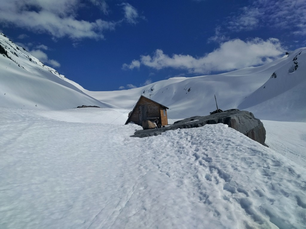 One of the two old UBC Glaciology huts.