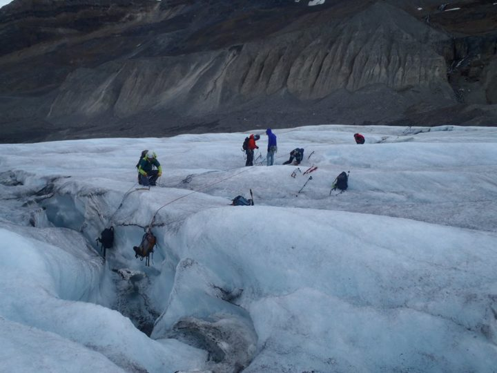 Columbia Icefields Alpine Climbing Skills Practice Weekend