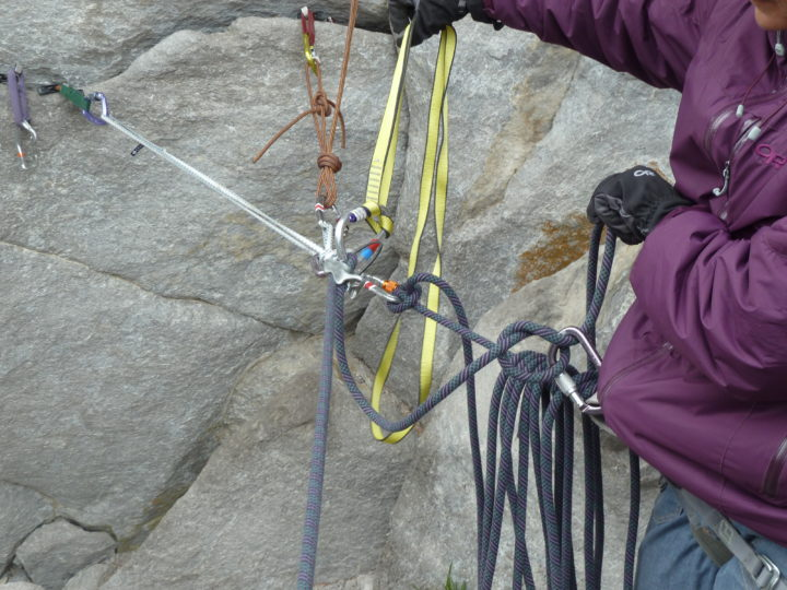 Rope rescue for ice – course with Sarah Hueniken