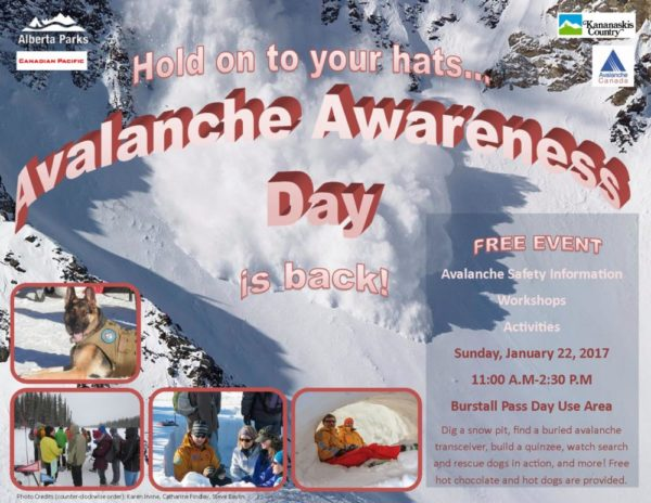 Kananaskis Country Avalanche Awareness Day – Jan 22nd!