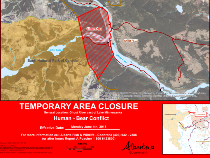 Ghost River – Area closures