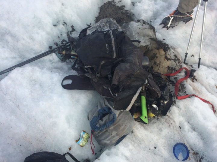 Found Backpack on Peyto Glacier